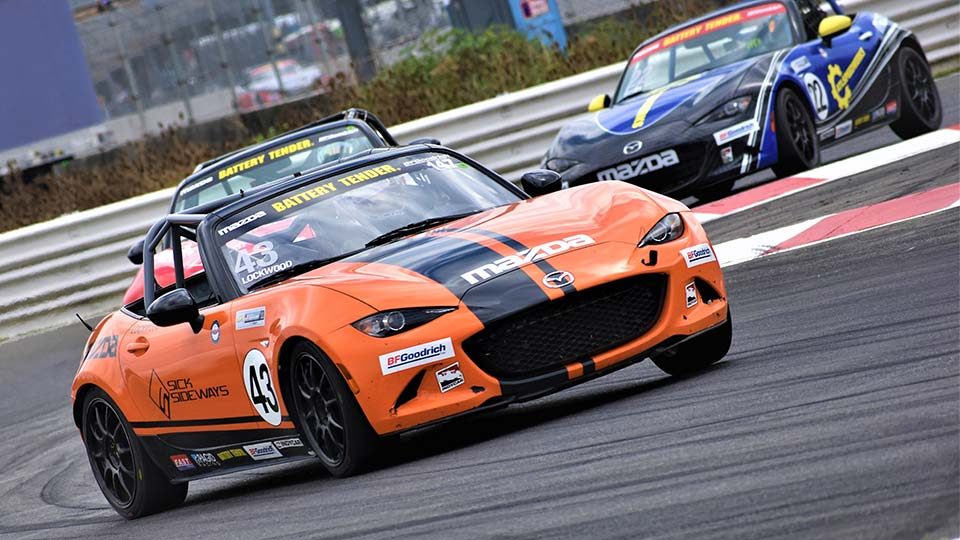 MX-5 Cups cars on track at the Grand Prix of Portland